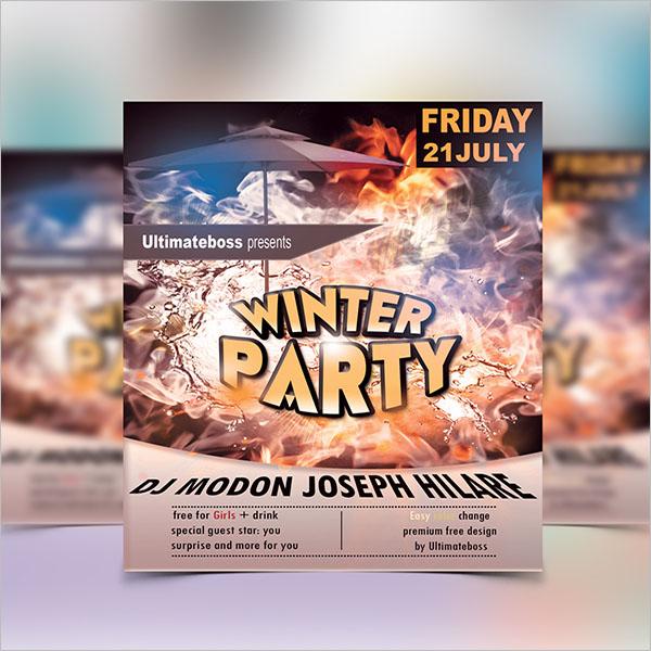 Customizable Winter Flyer Template