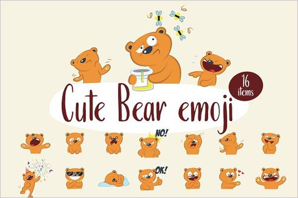 Cute Bear Emoji Icons