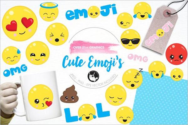 Cute Emoji's Illustration Pack