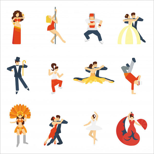 Dance Icons Designs Free Download