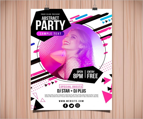 Dance Party Poster Design Ideas
