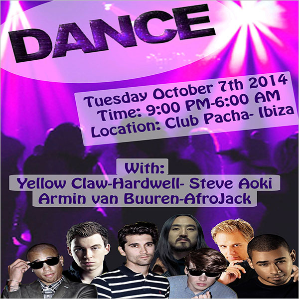 Dance Party Poster Example