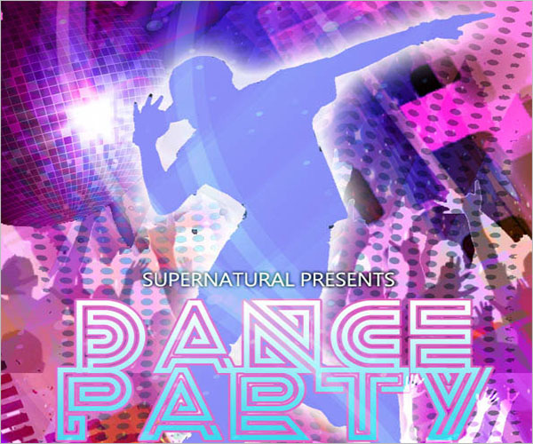 Dance Party Poster Template Free Download