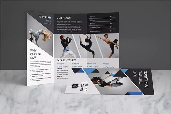 Dance Studio Brochure Pack