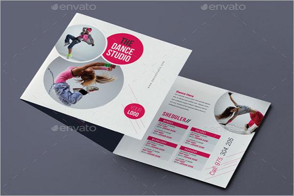 Dance Studio Square Trifold Brochure