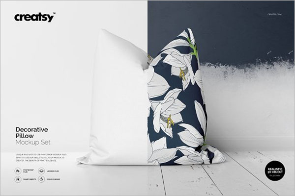 Decorative Pillow Cover Mockup