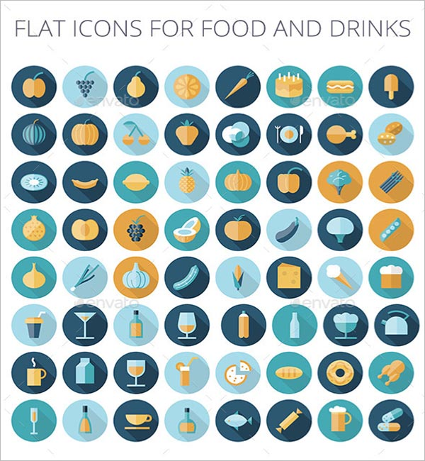 Design Icons For Food & Drinks