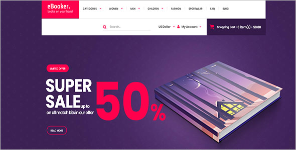E commerce OpenCart Template