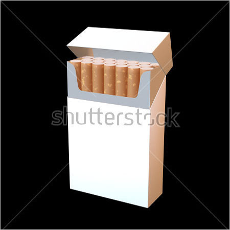 Editable Cigarette Package Mockup