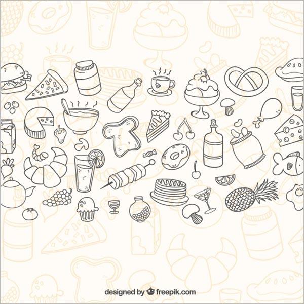 Editable Foods Icon Set