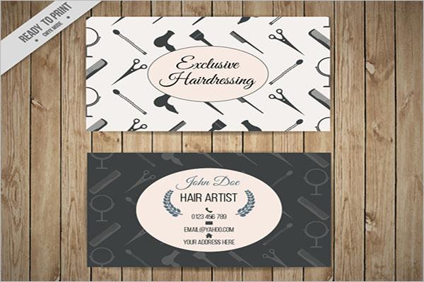 Editable Hair Stylist Business Card Template
