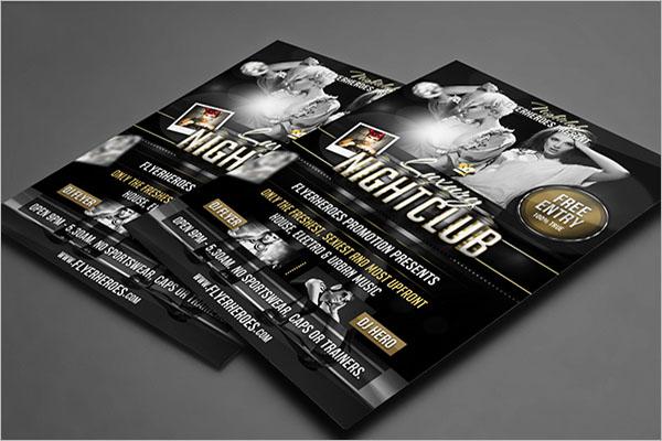 Editable Nightclub Flyer Template