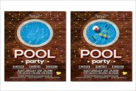 Editable Pool Party Flyer Design