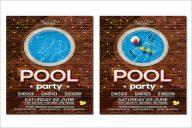 Editable Pool Party Flyer Design