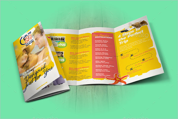 Editable Travel Brochure Design