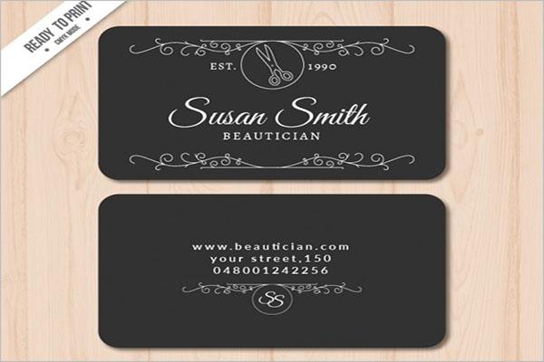 ElegantHair Stylist Business Card Template