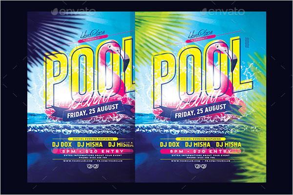 Elegant Pool Party Flyer Template