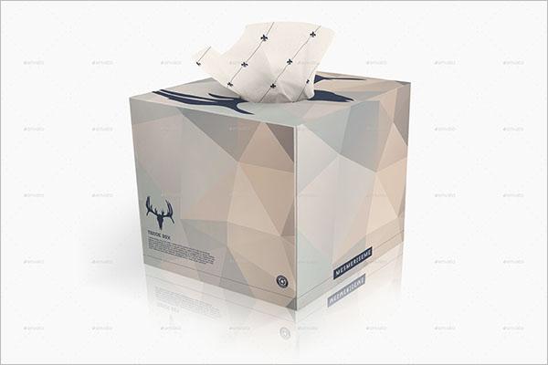 Elegant Tissue Box Mock-up