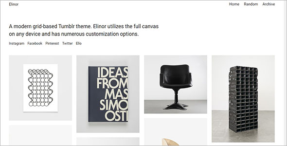 Elinor Tumblr Theme