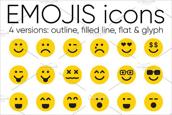Emoji Desktop Icons Set