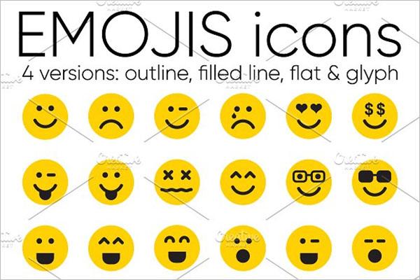 Emoji Desktop Icons Set