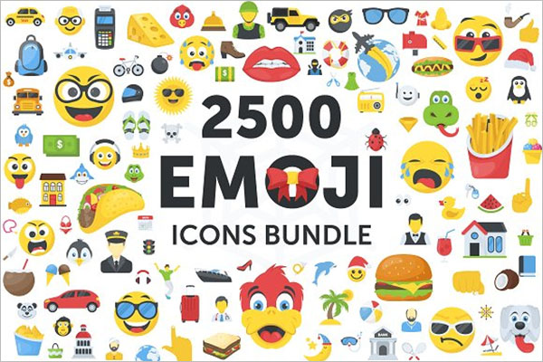 Emoji Icons Bundle Set