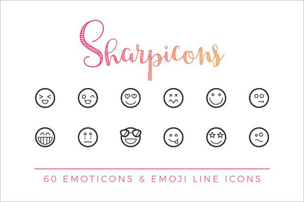 Emoticons & Emoji Line Icons