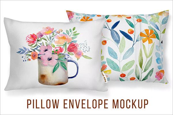 Envelope Cushion Cover Mockup