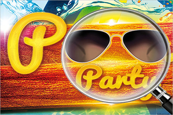 Example Pool Party Flyer Design