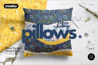 Fabric Pillow Cover Mockup