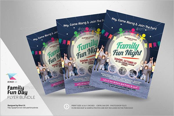 Family Fun Day Flyer Bundle