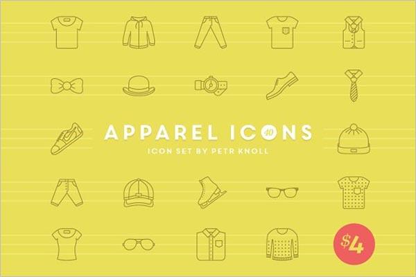 Fashion Apparel Icons Design