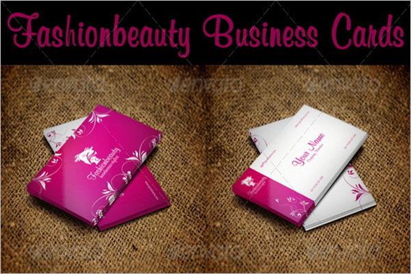 Fashion Beauty Business Card Template