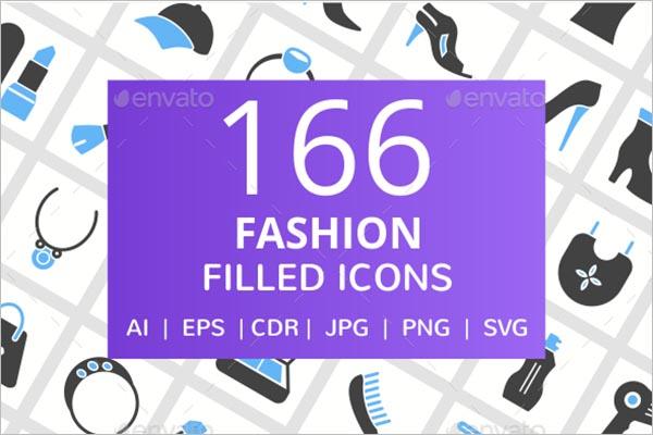 Fashion Blue & Black Icon