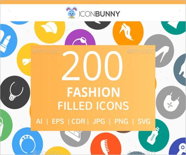Fashion Filled Round Icon