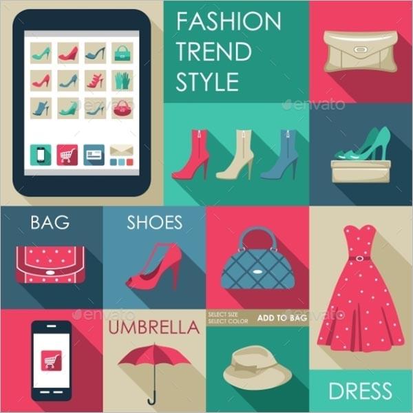 Fashion Icon for Web Design