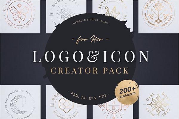 Fashion Logo & Icon Creator Pack
