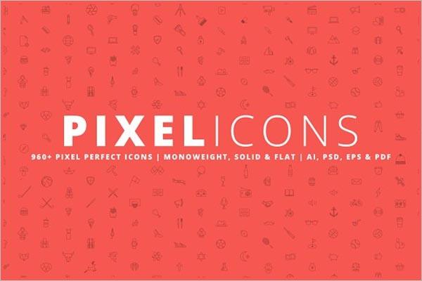 Fashion Pixel Icons Design