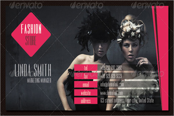 Fashion Store Business Card Template