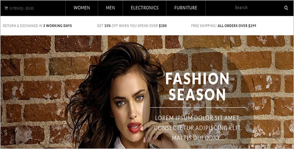 Fashion Store Opencart Theme