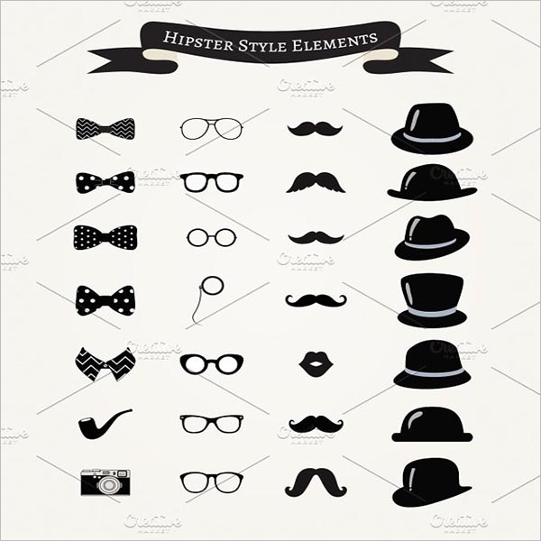 Fashion Vintage Hipster Icons