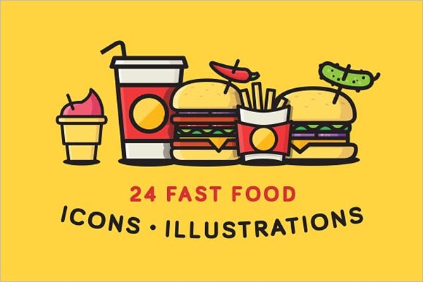 Fast Food Icons & Designs