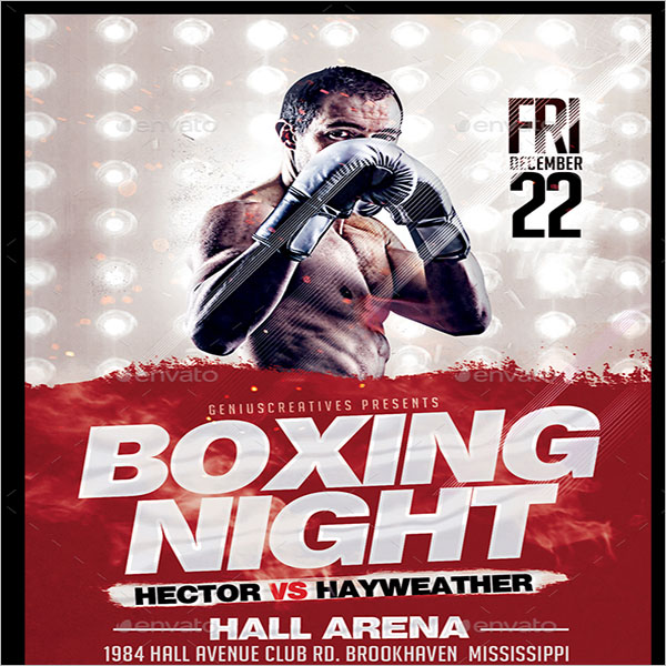 Fight Club Boxing Flyer
