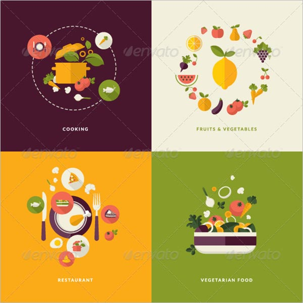 Flat Design Icon For Food & Drink