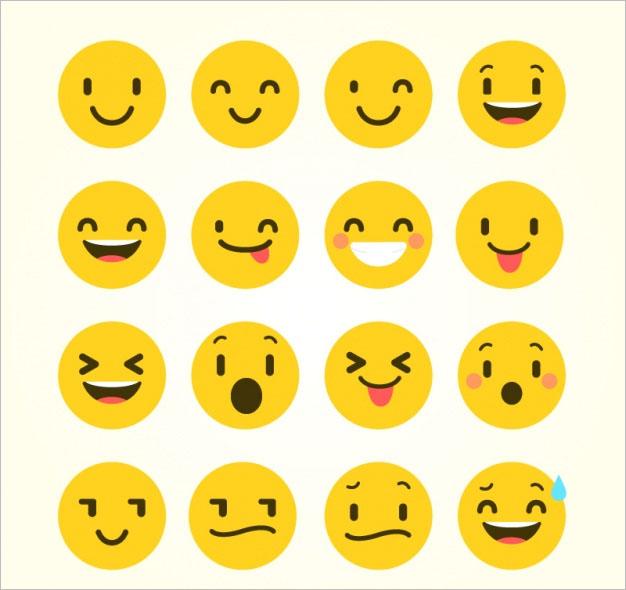 Flat Emoji With Funny Gestures