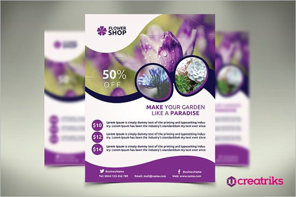 Floral Shop Flyer Template