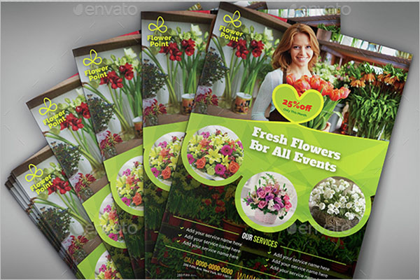 Flower Shop Business Flyer Template