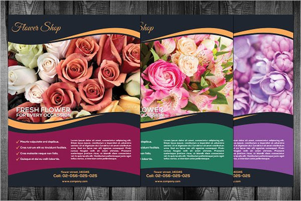 Flower Shop Flyer PSD