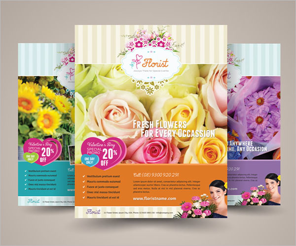 Flower Shop Flyer Template Free Download