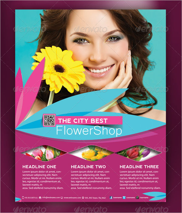 Flower Shop Magazine Flyer Template